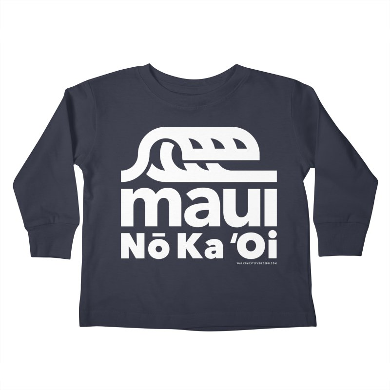 Maui Wave Kids Toddler Longsleeve T-Shirt by WalkingStick Design's Artist Shop
