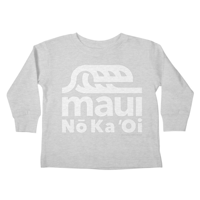 Maui Wave Kids Toddler Longsleeve T-Shirt by walkingstickdesign's Artist Shop