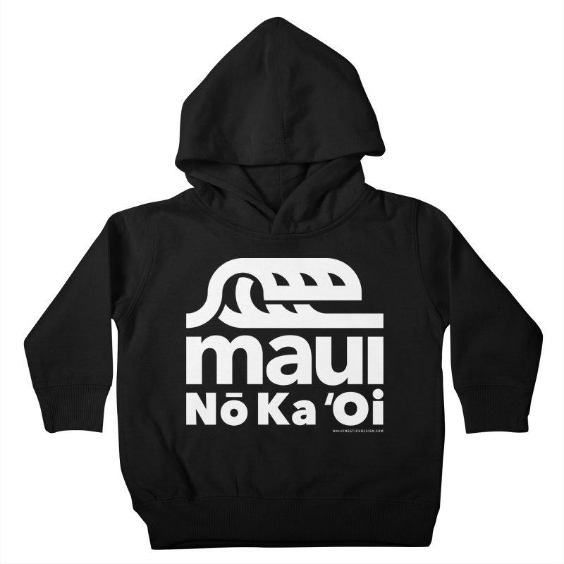Maui Wave Kids Toddler Pullover Hoody by walkingstickdesign's Artist Shop