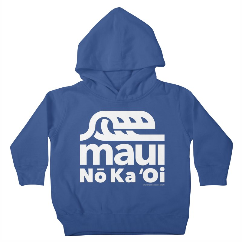 Maui Wave Kids Toddler Pullover Hoody by walkingstickdesign's Artist Shop