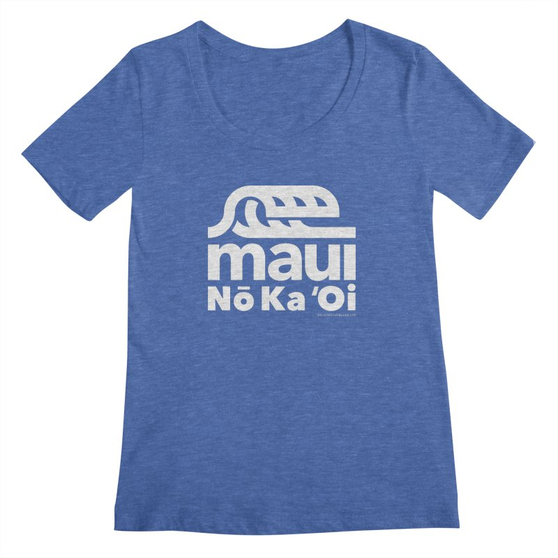 Maui Wave Women's Scoopneck by walkingstickdesign's Artist Shop