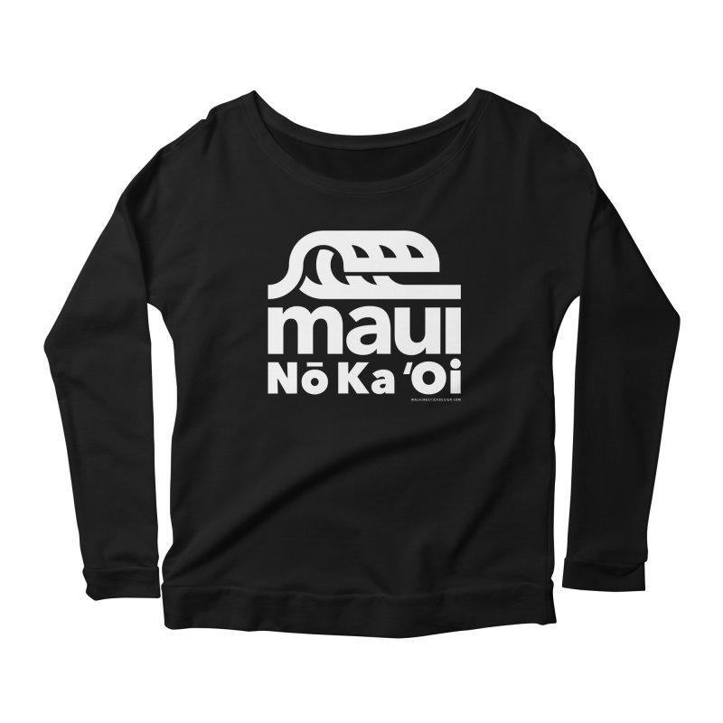 Maui Wave Women's Scoop Neck Longsleeve T-Shirt by walkingstickdesign's Artist Shop