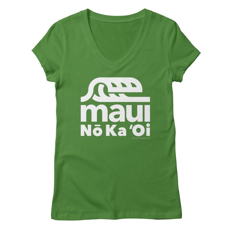 Maui Wave Women's V-Neck by walkingstickdesign's Artist Shop