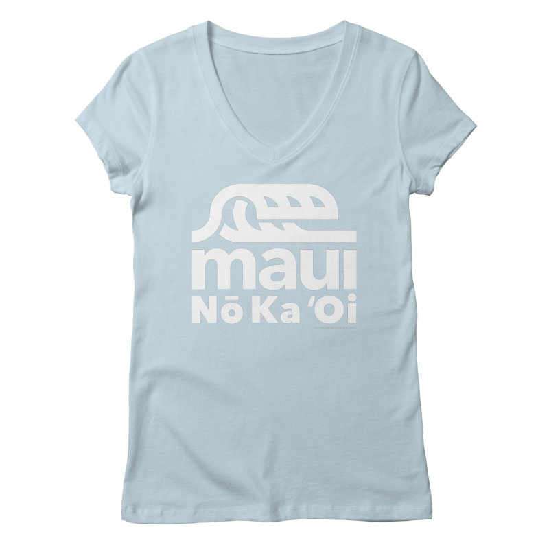 Maui Wave Women's Regular V-Neck by walkingstickdesign's Artist Shop