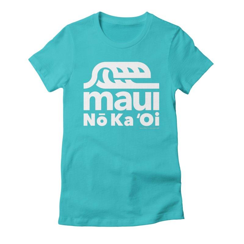 Maui Wave Women's Fitted T-Shirt by WalkingStick Design's Artist Shop