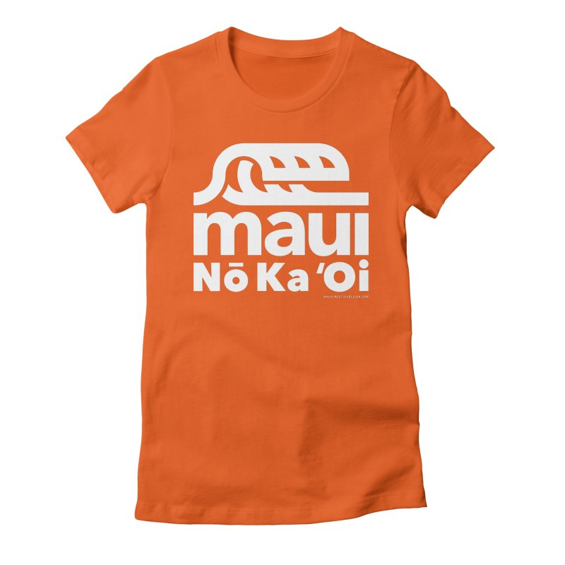 Maui Wave Women's Fitted T-Shirt by walkingstickdesign's Artist Shop