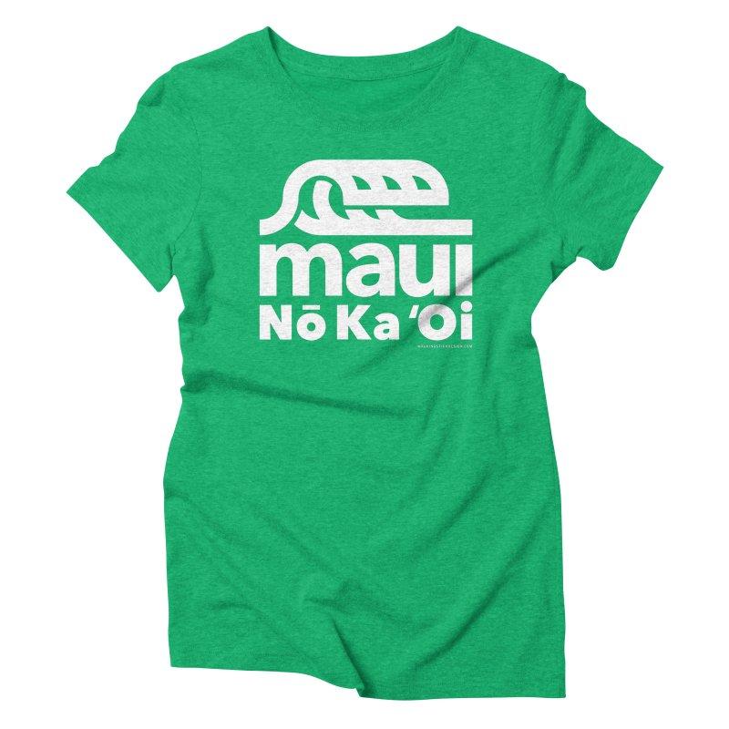 Maui Wave Women's Triblend T-Shirt by walkingstickdesign's Artist Shop