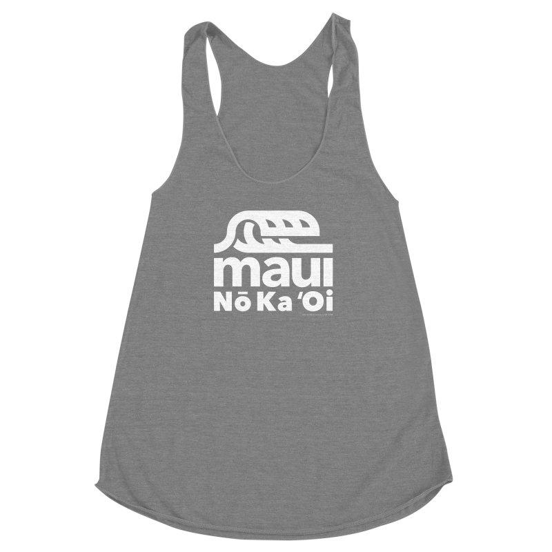 Maui Wave Women's Racerback Triblend Tank by walkingstickdesign's Artist Shop