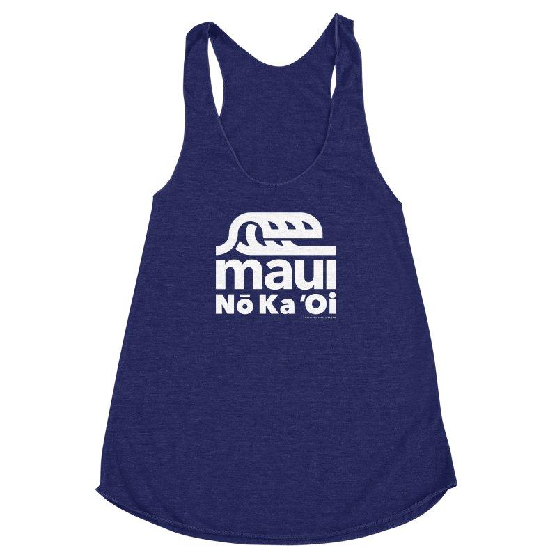 Maui Wave Women's Racerback Triblend Tank by WalkingStick Design's Artist Shop