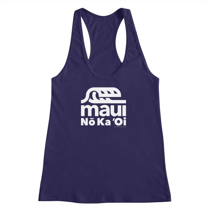 Maui Wave Women's Racerback Tank by walkingstickdesign's Artist Shop