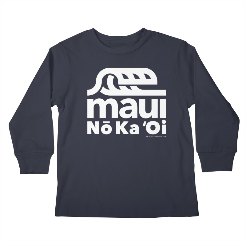 Maui Wave Kids Longsleeve T-Shirt by walkingstickdesign's Artist Shop