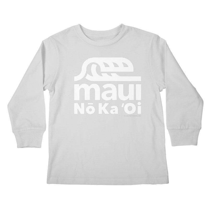 Maui Wave Kids Longsleeve T-Shirt by walkingstickdesign's Artist Shop