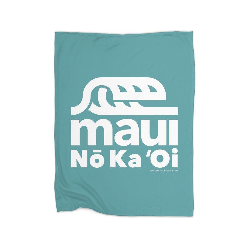 Maui Wave Home Blanket by walkingstickdesign's Artist Shop