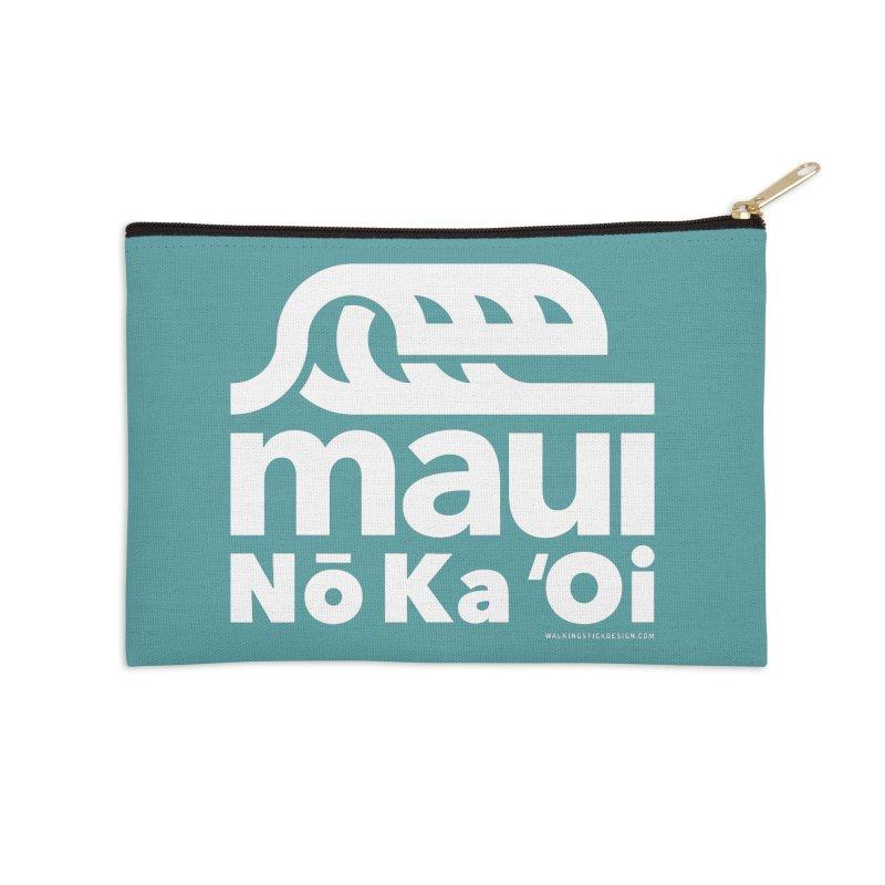 Maui Wave Accessories Zip Pouch by walkingstickdesign's Artist Shop