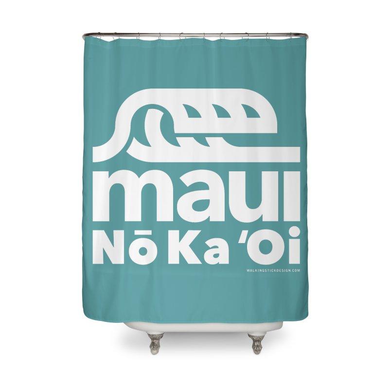 Maui Wave Home Shower Curtain by walkingstickdesign's Artist Shop