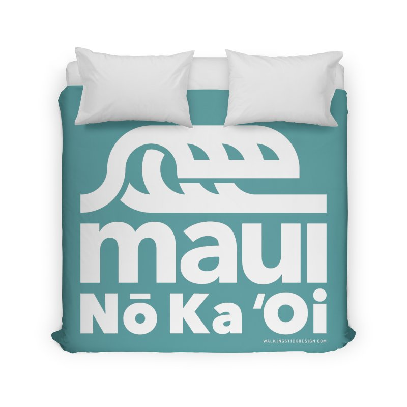 Maui Wave Home Duvet by walkingstickdesign's Artist Shop