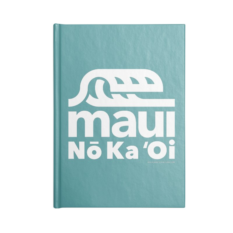 Maui Wave Accessories Notebook by walkingstickdesign's Artist Shop