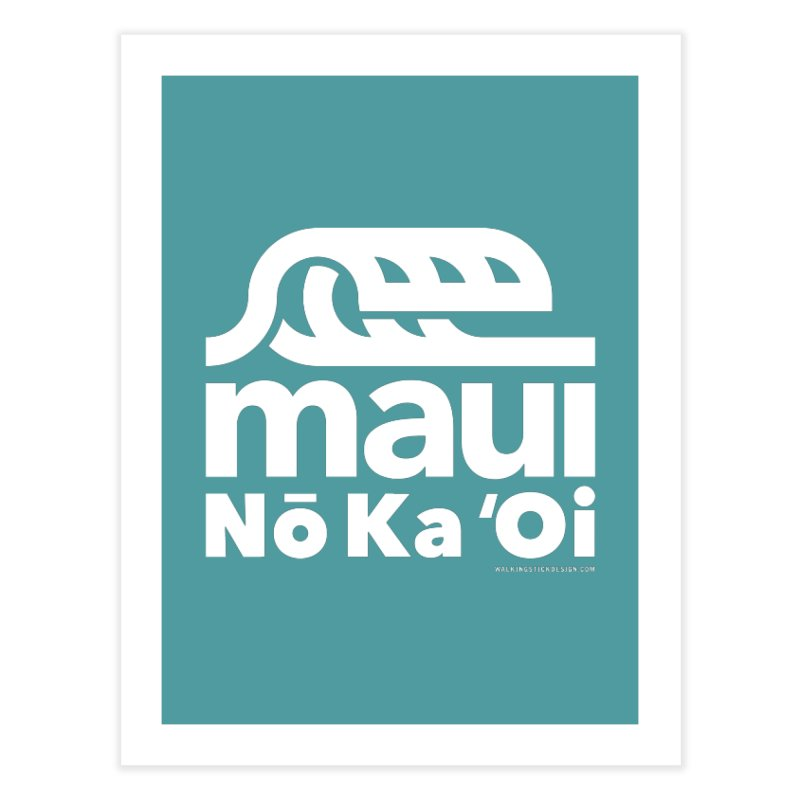 Maui Wave Home Fine Art Print by walkingstickdesign's Artist Shop