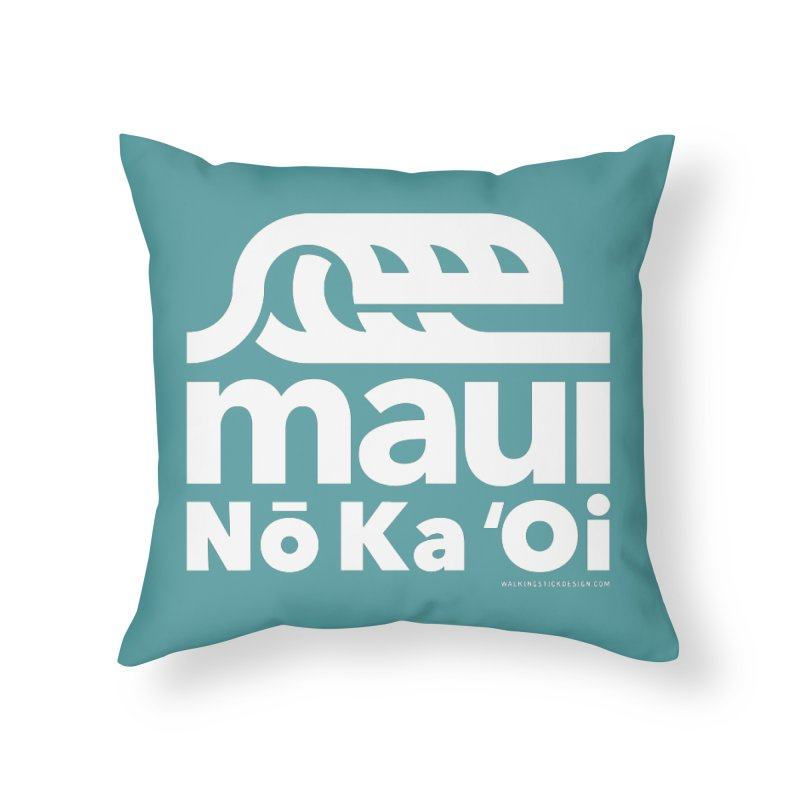 Maui Wave Home Throw Pillow by walkingstickdesign's Artist Shop