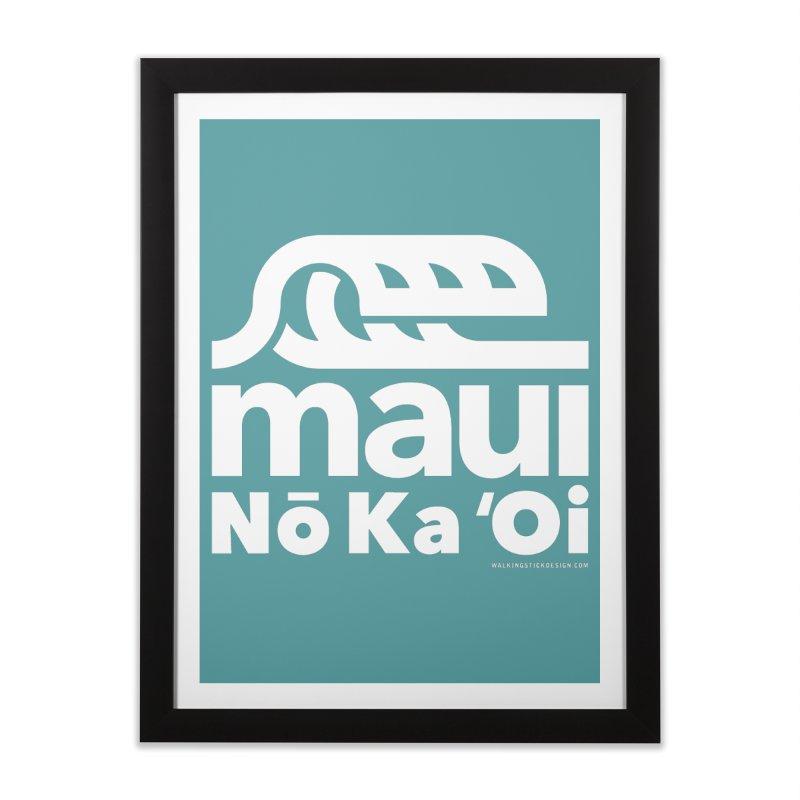 Maui Wave Home Framed Fine Art Print by WalkingStick Design's Artist Shop