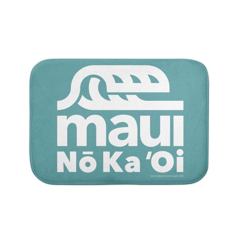 Maui Wave Home Bath Mat by walkingstickdesign's Artist Shop