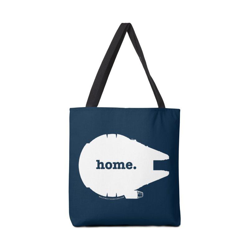 Millennium Falcon Home Shirt - White Accessories Bag by WalkingStick Design's Artist Shop