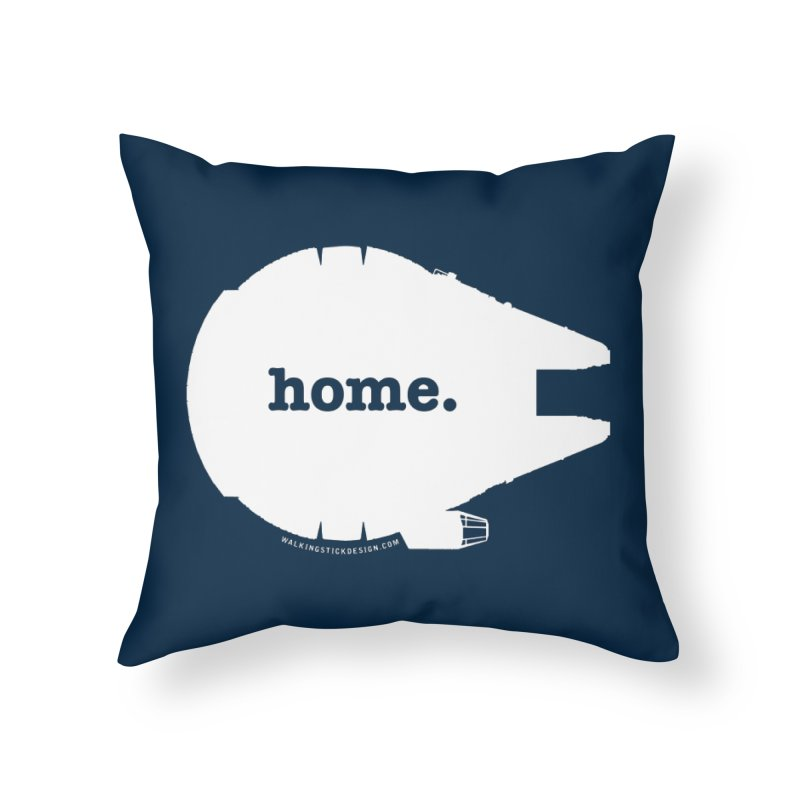 Millennium Falcon Home Shirt - White Home Throw Pillow by WalkingStick Design's Artist Shop