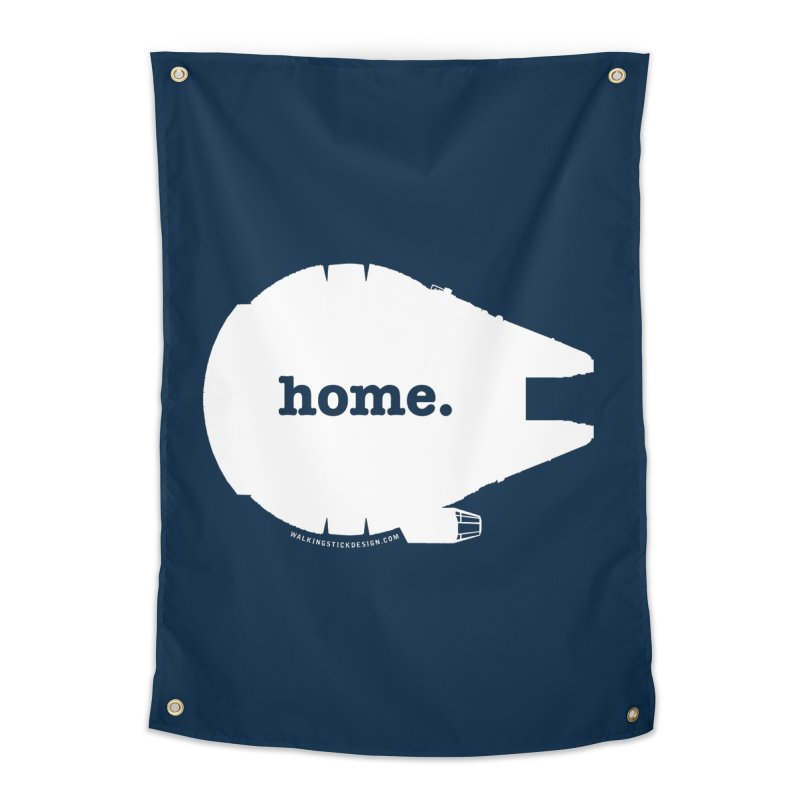 Millennium Falcon Home Shirt - White Home Tapestry by WalkingStick Design's Artist Shop