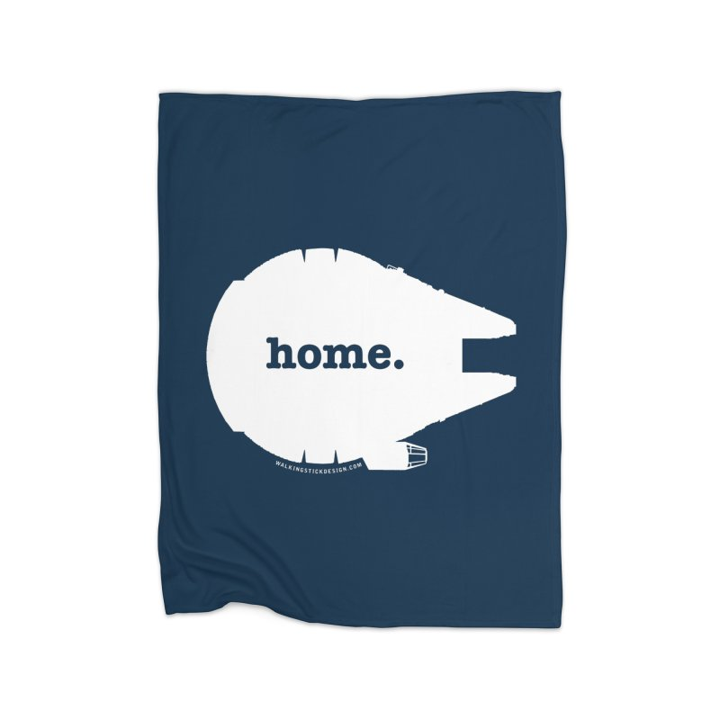 Millennium Falcon Home Shirt - White Home Blanket by WalkingStick Design's Artist Shop