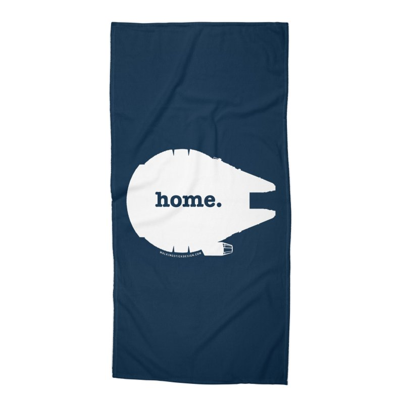 Millennium Falcon Home Shirt - White Accessories Beach Towel by WalkingStick Design's Artist Shop