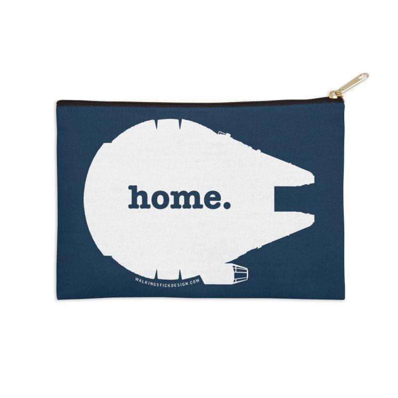 Millennium Falcon Home Shirt - White Accessories Zip Pouch by WalkingStick Design's Artist Shop