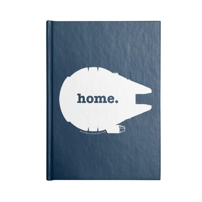 Millennium Falcon Home Shirt - White Accessories Notebook by WalkingStick Design's Artist Shop
