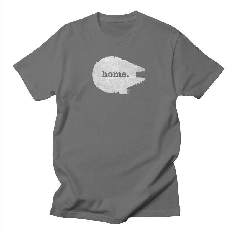 Millennium Falcon Home Shirt - White Men's Regular T-Shirt by WalkingStick Design's Artist Shop