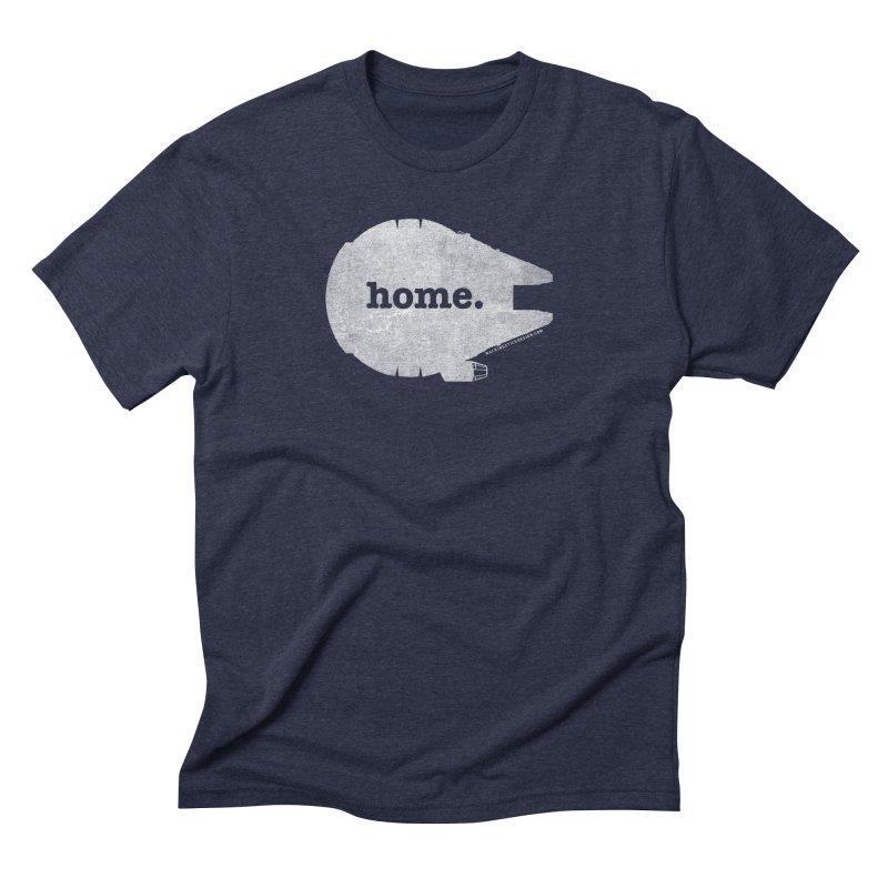 Millennium Falcon Home Shirt - White Men's Triblend T-shirt by walkingstickdesign's Artist Shop