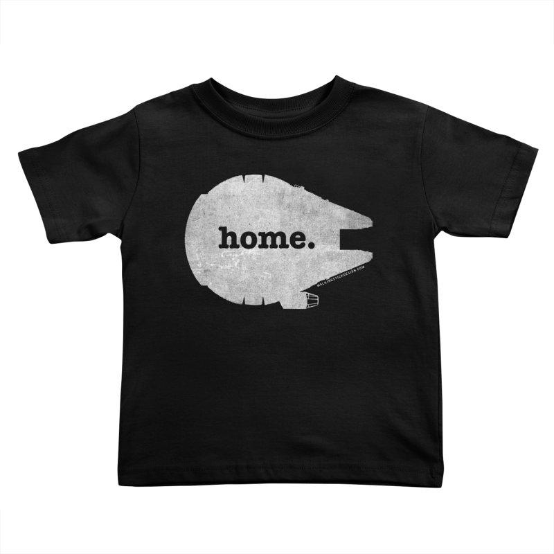 Millennium Falcon Home Shirt - White Kids Toddler T-Shirt by WalkingStick Design's Artist Shop