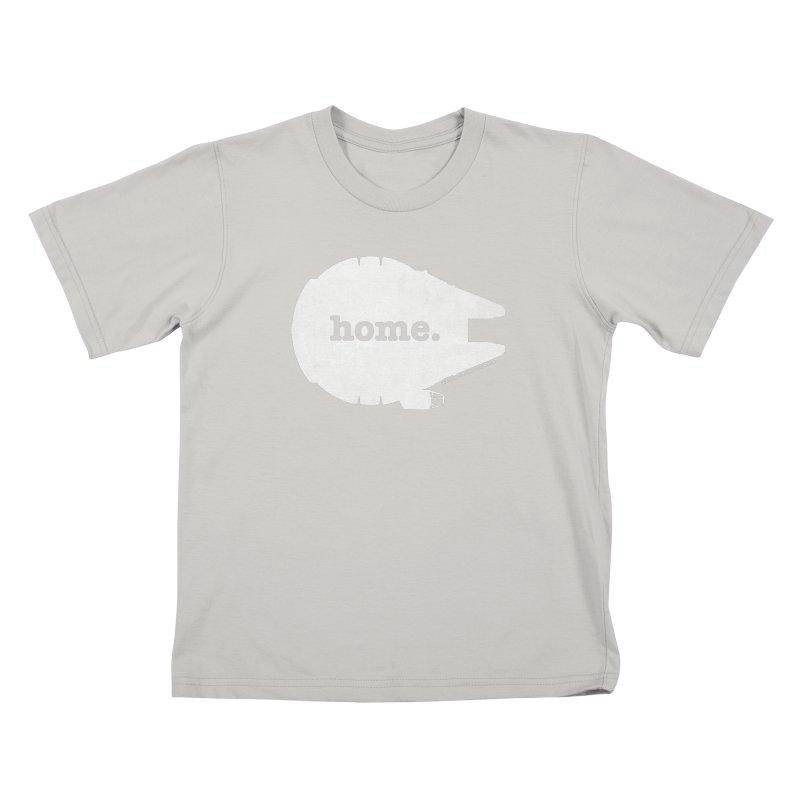 Millennium Falcon Home Shirt - White Kids T-shirt by walkingstickdesign's Artist Shop