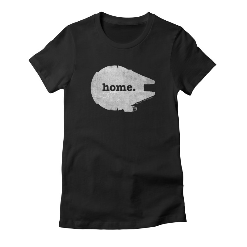 Millennium Falcon Home Shirt - White Women's Fitted T-Shirt by walkingstickdesign's Artist Shop
