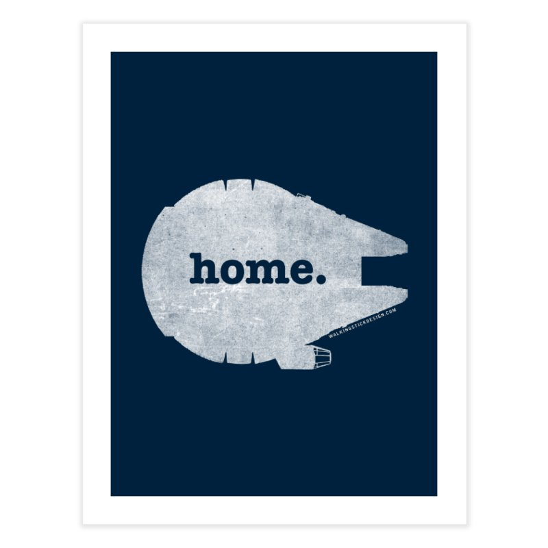 Millennium Falcon Home Shirt - White Home Bath Mat by WalkingStick Design's Artist Shop