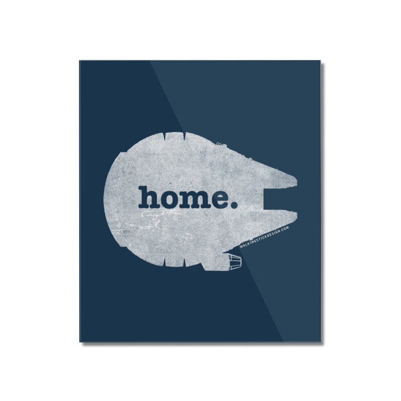 Millennium Falcon Home Shirt - White Home Mounted Acrylic Print by walkingstickdesign's Artist Shop