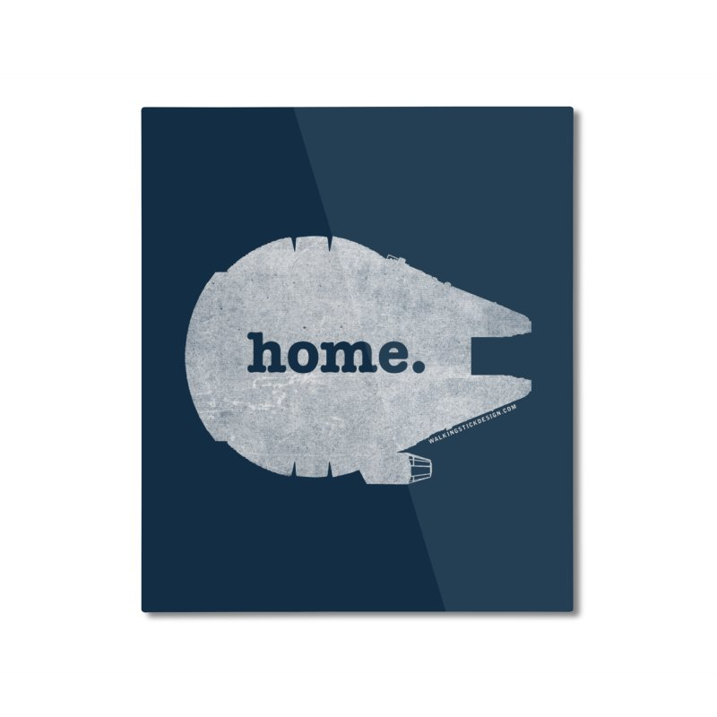 Millennium Falcon Home Shirt - White Home Mounted Aluminum Print by WalkingStick Design's Artist Shop
