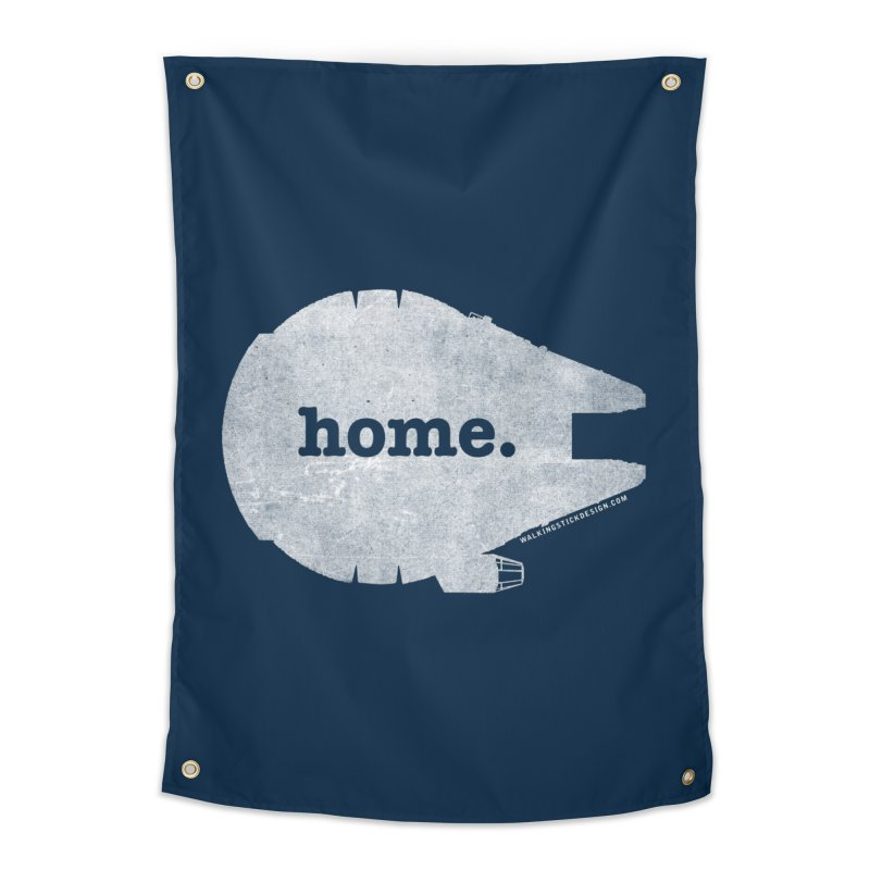 Millennium Falcon Home Shirt - White Home Tapestry by walkingstickdesign's Artist Shop