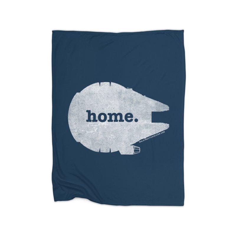 Millennium Falcon Home Shirt - White Home Blanket by walkingstickdesign's Artist Shop