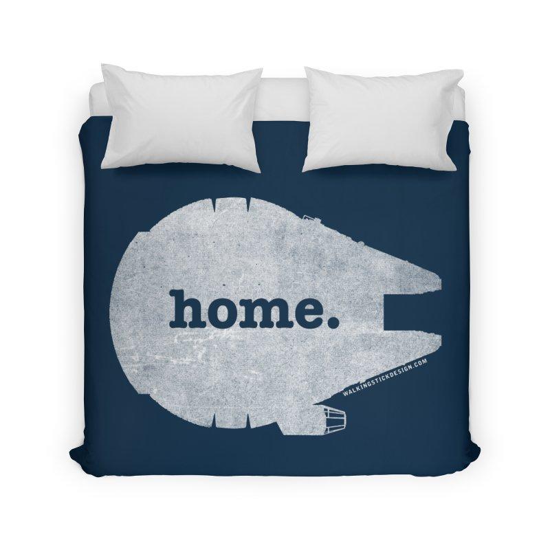 Millennium Falcon Home Shirt - White Home Duvet by walkingstickdesign's Artist Shop