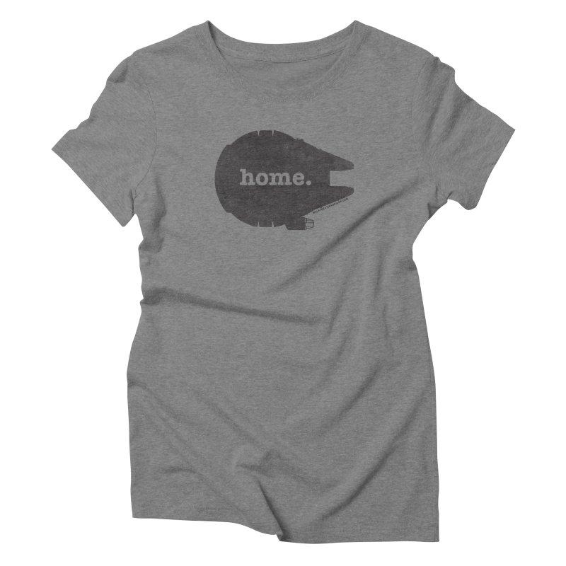 Millennium Falcon Home Shirt - Black Women's Triblend T-Shirt by WalkingStick Design's Artist Shop
