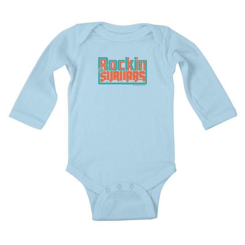 Rocking The Suburbs Kids Baby Longsleeve Bodysuit by walkingstickdesign's Artist Shop