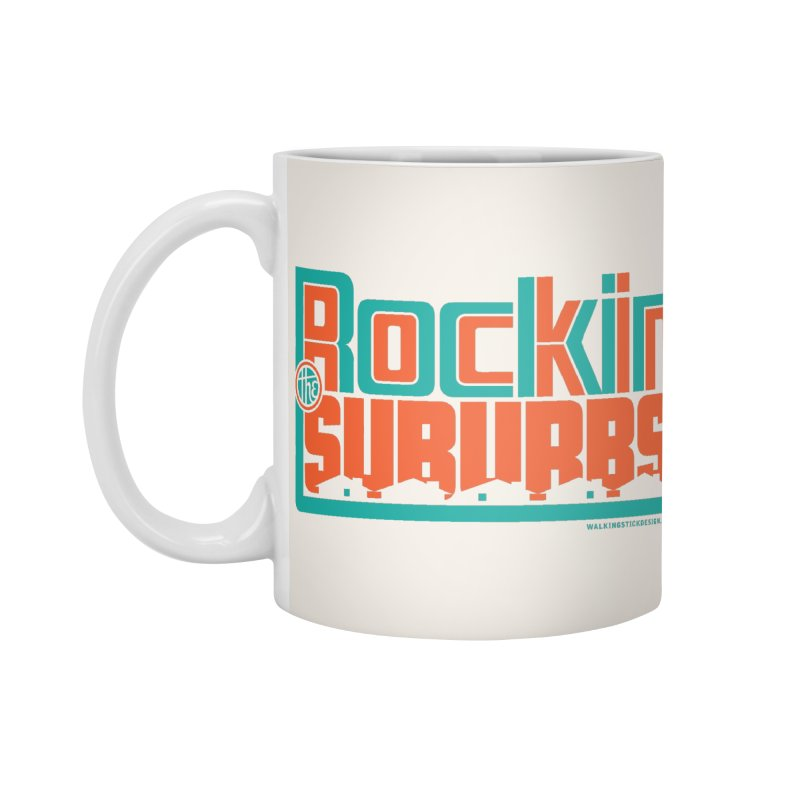 Rocking The Suburbs Accessories Beach Towel by walkingstickdesign's Artist Shop