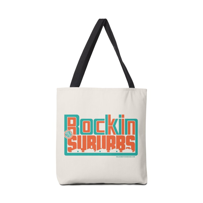 Rocking The Suburbs Accessories Bag by walkingstickdesign's Artist Shop