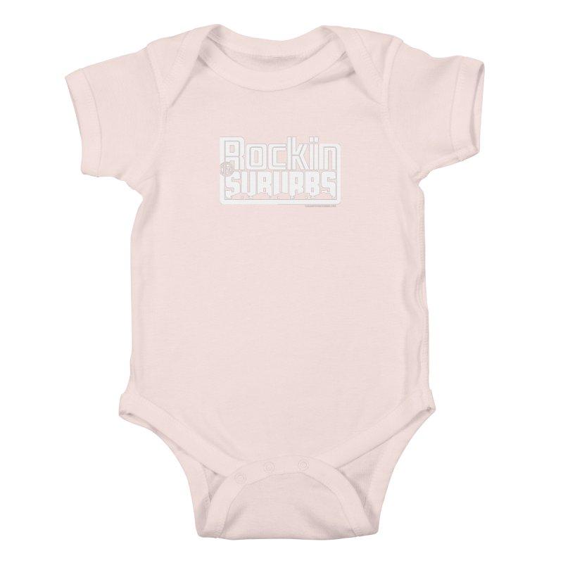 Rockin' The Suburbs - White Kids Baby Bodysuit by walkingstickdesign's Artist Shop