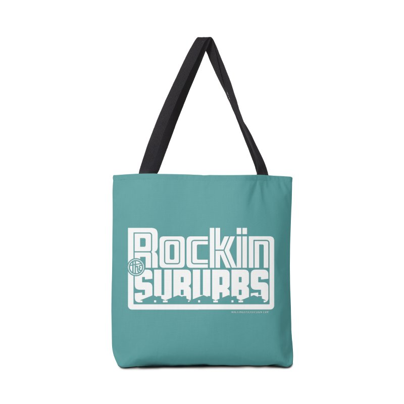 Rockin' The Suburbs - White Accessories Bag by walkingstickdesign's Artist Shop