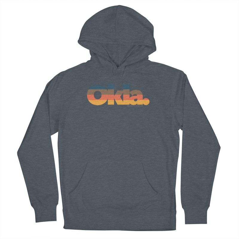 Oklahoma Sunset Men's French Terry Pullover Hoody by WalkingStick Design's Artist Shop